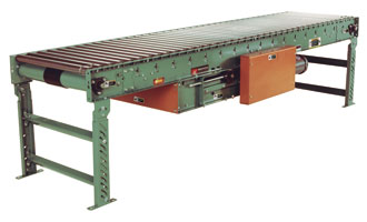 powered live roller conveyors